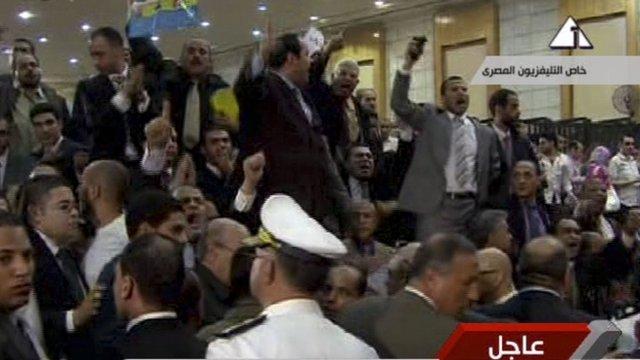 Egyptians reacting to Mubarak verdict