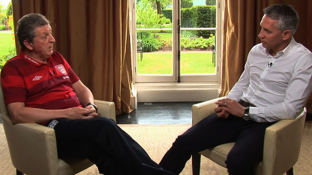 Roy Hodgson and Gary Lineker