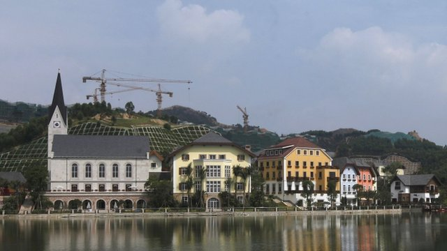 Chinese replica of Hallstatt in the Austrian Alps