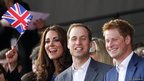 The Duke and Duchess of Cambridge with Prince Harry attend The Diamond Jubilee Concert