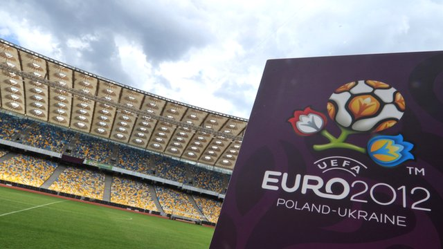 Euro 2012 logo and stadium