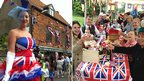 Diamond Jubilee parties in Wells-next-the-Sea (left) and Caistor St Edmund