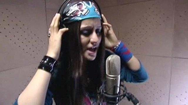 Susan Firouz, Afghan rap singer.