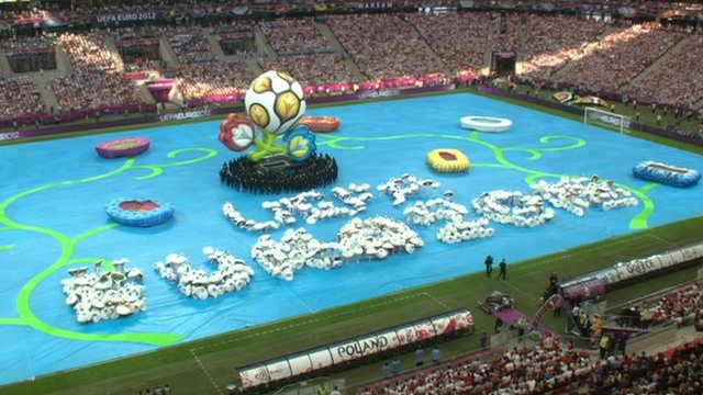 The opening ceremony of Euro 2012
