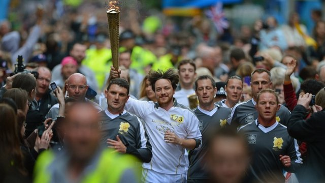 James McAvoy carries the Olympic flame