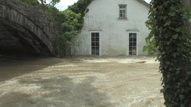 Flooding in Dol-y-bont
