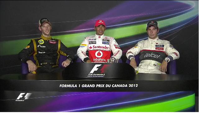 Canadian Grand Prix top three drivers