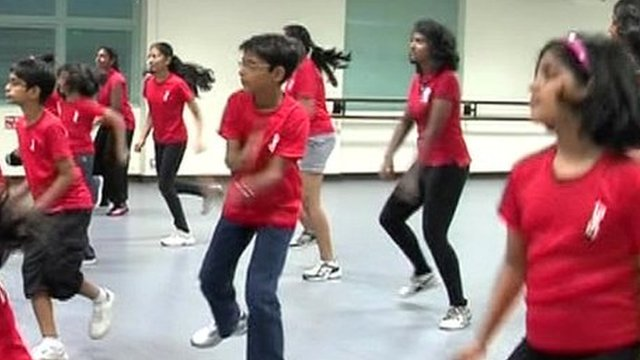 Dance class in Singapore