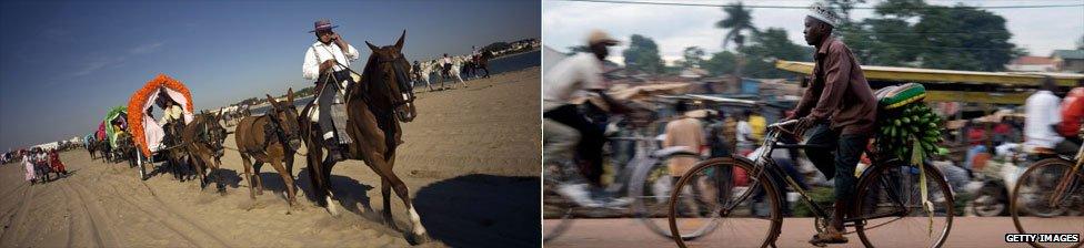 Pilgrims near Cadiz, a street in Kampala