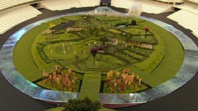 Model of Olympic Stadium