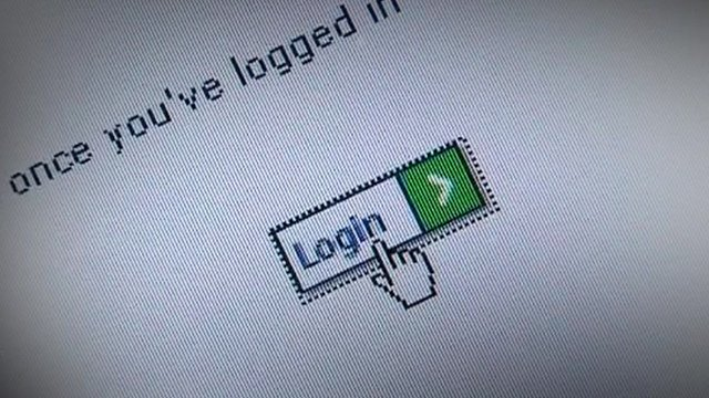 Web login screen