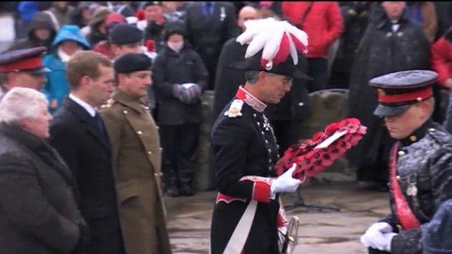 Falklands ceremony