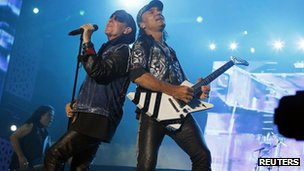 Klaus Meine (left) and Matthias Jabs of German rock band Scorpions