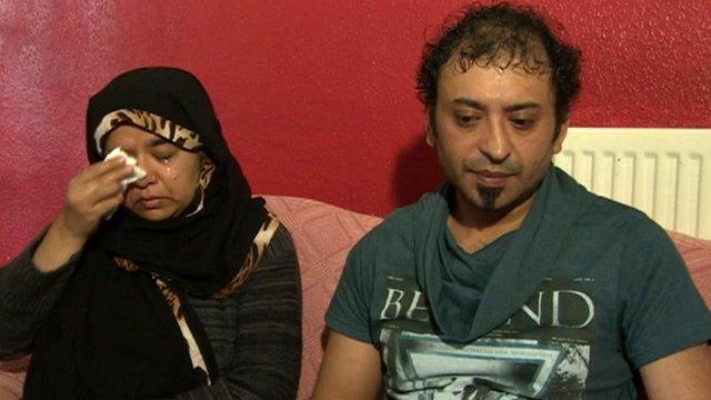 Alina's parents, Sultan Sarag (right) and Farhat Mahmood