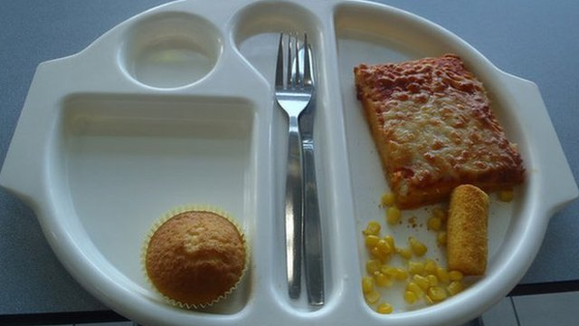 Photo of Martha's school lunch