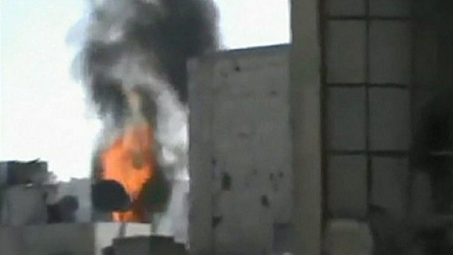 Fire in Homs