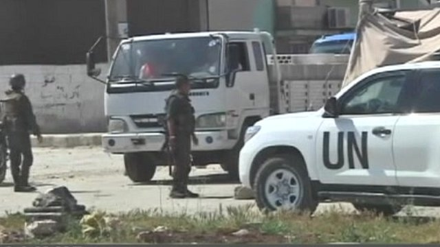 UN observers in Syria