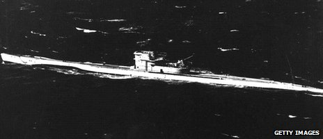 U-boat photographed in 1940