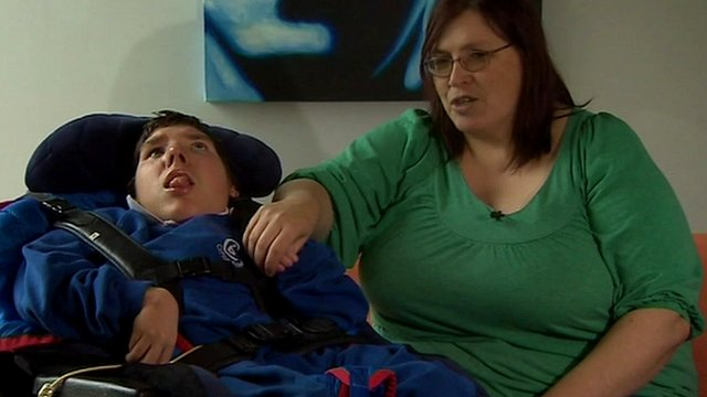 Tracy Sloan who cares for her son Philip