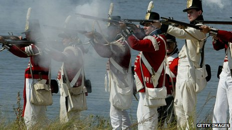 War of 1812 reenactment in Maryland
