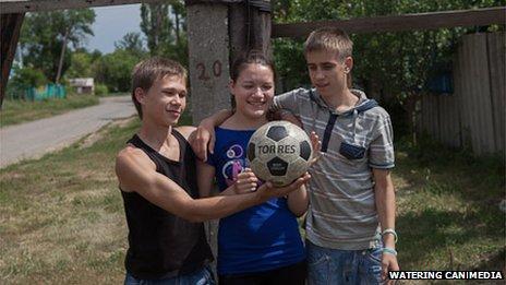Pasha Ponamarenko (L), Tanya Lyashenko (C) and Artem Nevedrov (R)