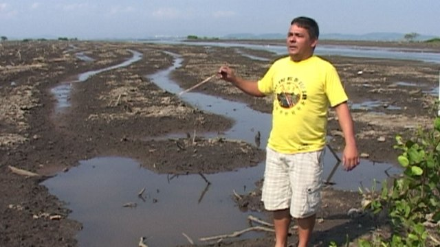 A fisherman in Guanabara Bay