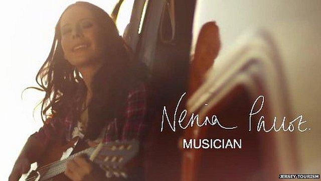 Nerina Pallot in Jersey Tourism advert