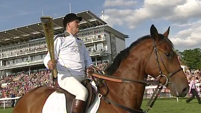 Paddy the horse and Harvey Smith