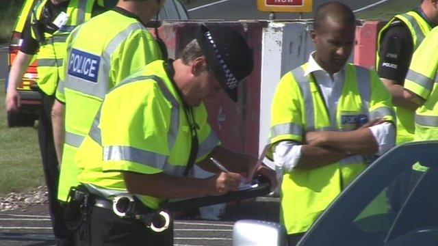 Police operation at Stansted Airport