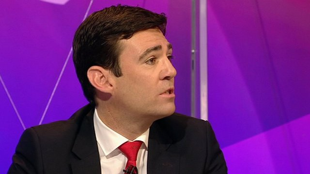 Andy Burnham on Question Time