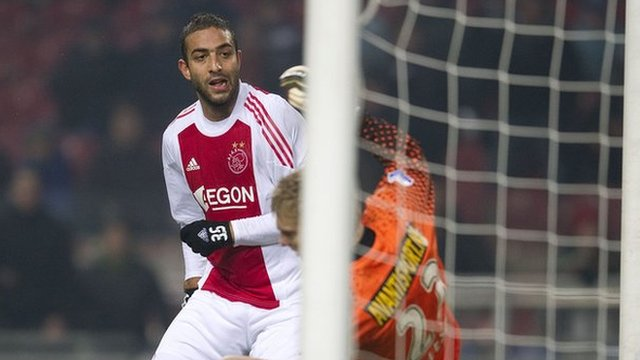 Egyptian striker Mido in action for Dutch club Ajax