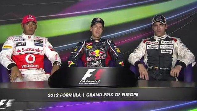 European Grand Prix qualifying top three