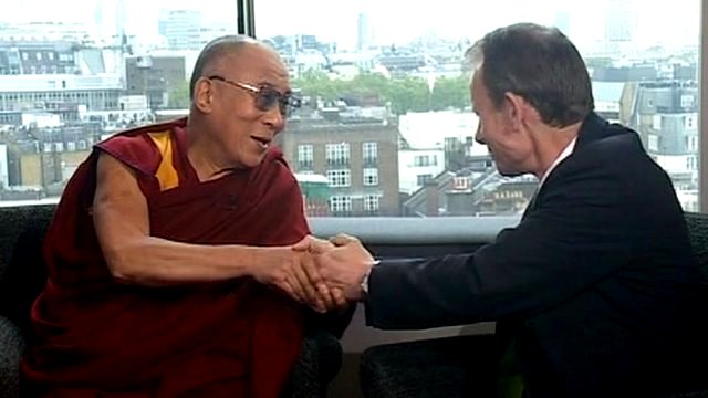 Dalai Lama and Andrew Marr