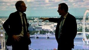 Tony Blair, left, with Andrew Marr