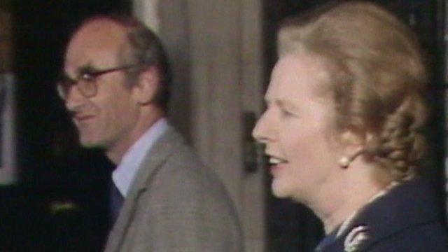 John Nott and Margaret Thatcher