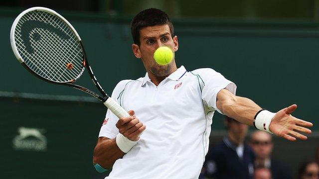 Defending Wimbledon champion Novak Djokovic
