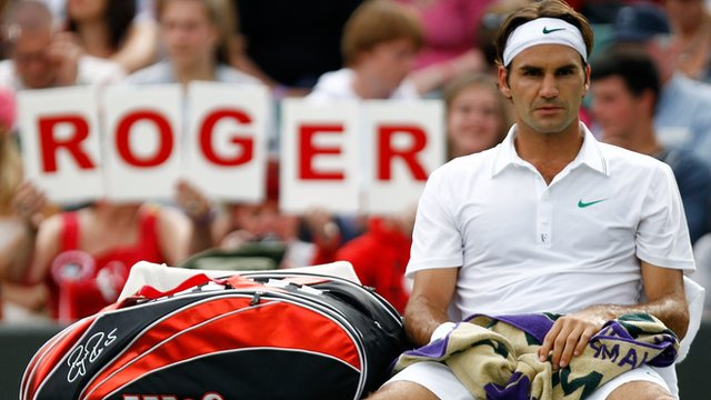 Six-time Wimbledon champion Roger Federer