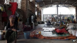 File photo: A shelter near the Chinese-Burma border in Yunnan province