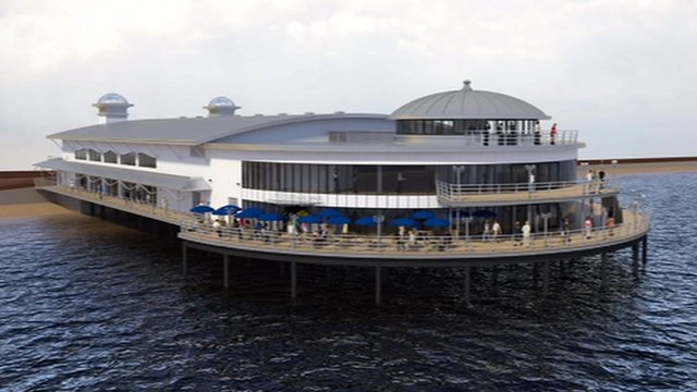 Impression of the new look for Felixstowe Pier