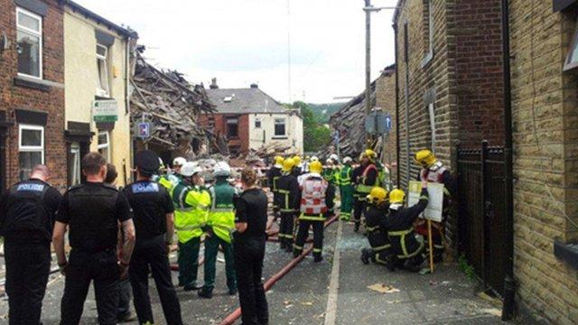 Scene of blast in Oldham