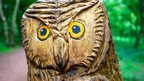 Carved owl at Sherwood Forest