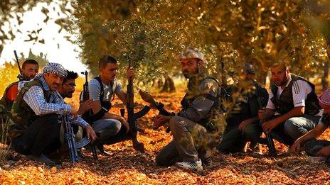 Rebels in Idlib (Photo by Darren Conway)