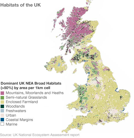 Map from the NEA report showing which areas are urban