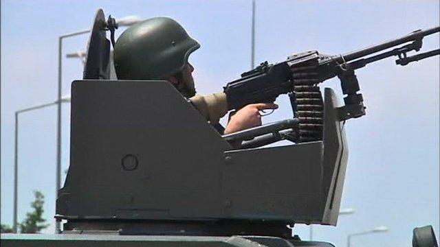 A Turkish soldier