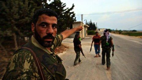 Rebel commander Bassel Abu Abdu in Idlib (Photo by Darren Conway)