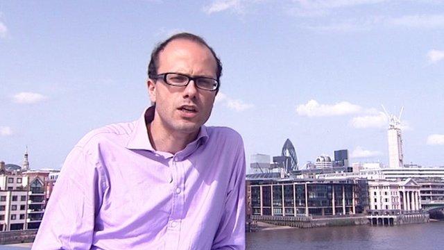 Allister Heath with City backdrop