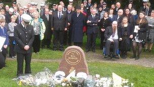 Police memorial in memory of PC Bill Barker