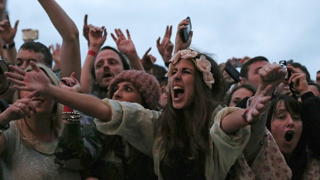 Stone Roses fans at the Heaton Park gig on 29/6/12