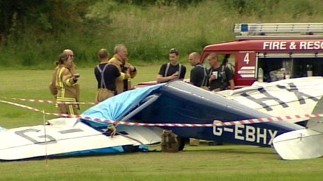Scene of air crash