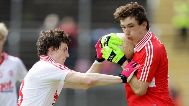 Tyrone's Rory Brennan and Terence O'Brien of Derry